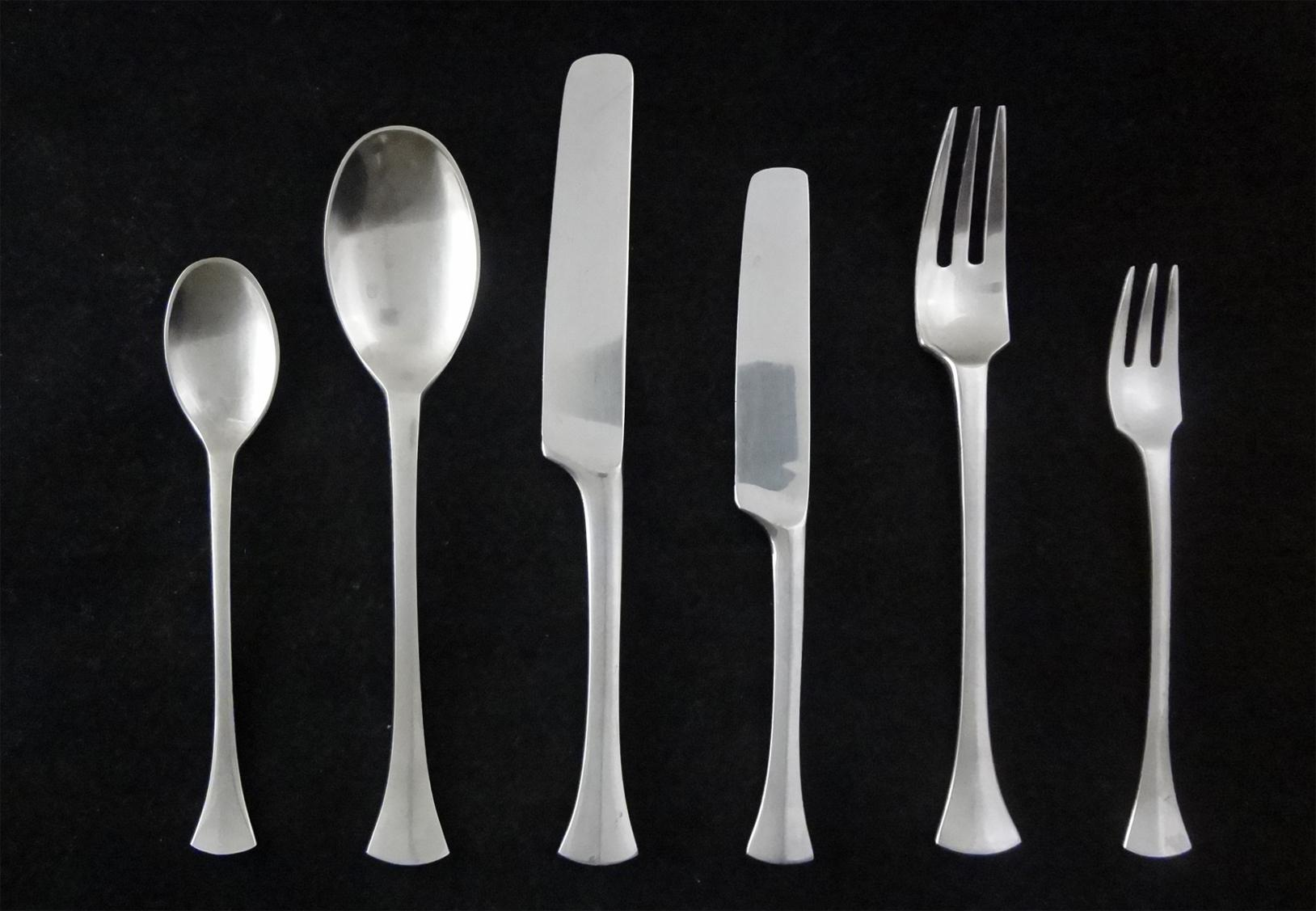 piece dansk thistle early scandinavian modern flatware set for  - roll over large image to magnify click large image to zoom