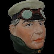 Red Baron Majolica Humidor Tobacco Jar Ace Pilot 3338 Wilhelm Schiller WS&S