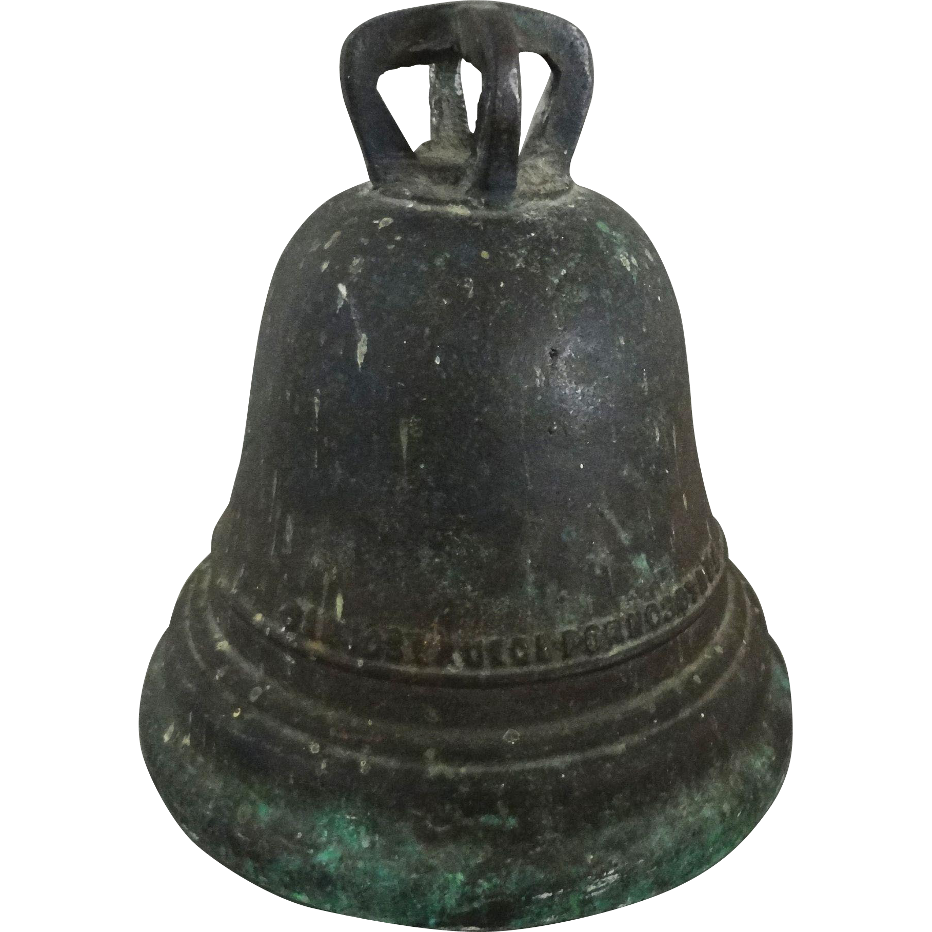 Inscribed Cast Bronze Bell after Mission San Miguel Bell, Santa Fe, New Mexico