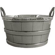 Art Deco Period Wine Champagne Ice Barrel Shaped Bucket by Reed & Barton Silver Plated - 1932, USA