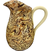 French Faience Marbleized Small Pitcher Provence Jean Faucon Apt - 20th Century, France