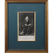 Antique Engraving Americana Portrait Benjamin Franklin - 19th Century, USA