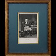 Antique Engraving Americana Portrait Commodore John Barry - 19th Century, USA