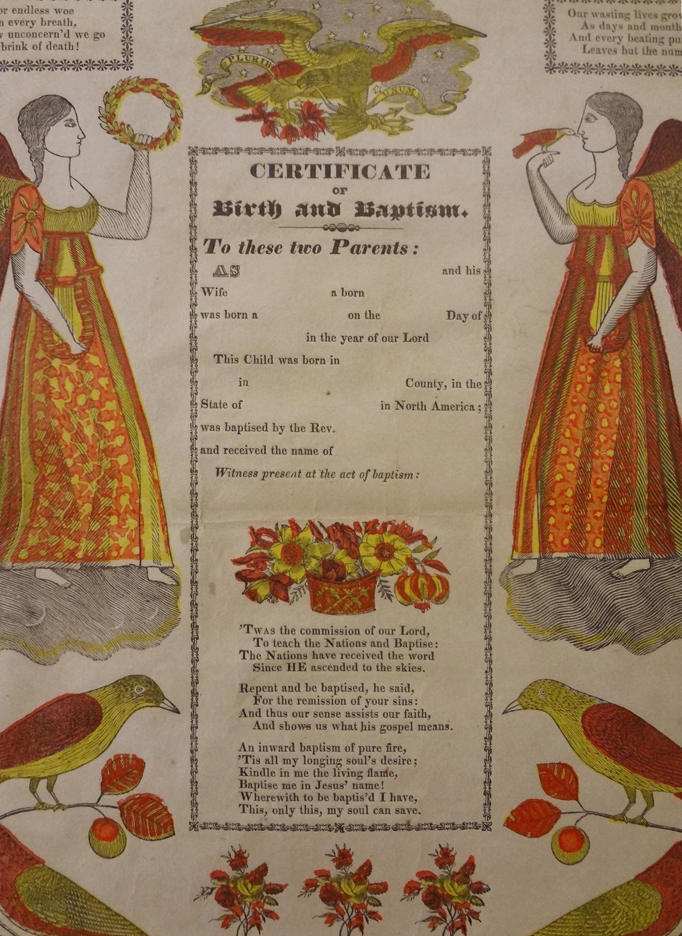 Early framed german folk art broadside fraktur certificate of roll over large image to magnify click large image to zoom aiddatafo Image collections