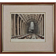 Egyptian Hall Antique Aquatint / Etching London Architecture - early 19th Century, England