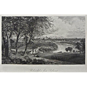 Philadelphia from Belmont Steel Engraving Americana Framed Pennsylvania - 19th Century, USA