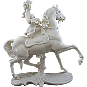 Nymphenburg Female Equestrian Princess Margarethe Klementine von Thurn und Taxis Figurine 531 - Post 1910, Germany