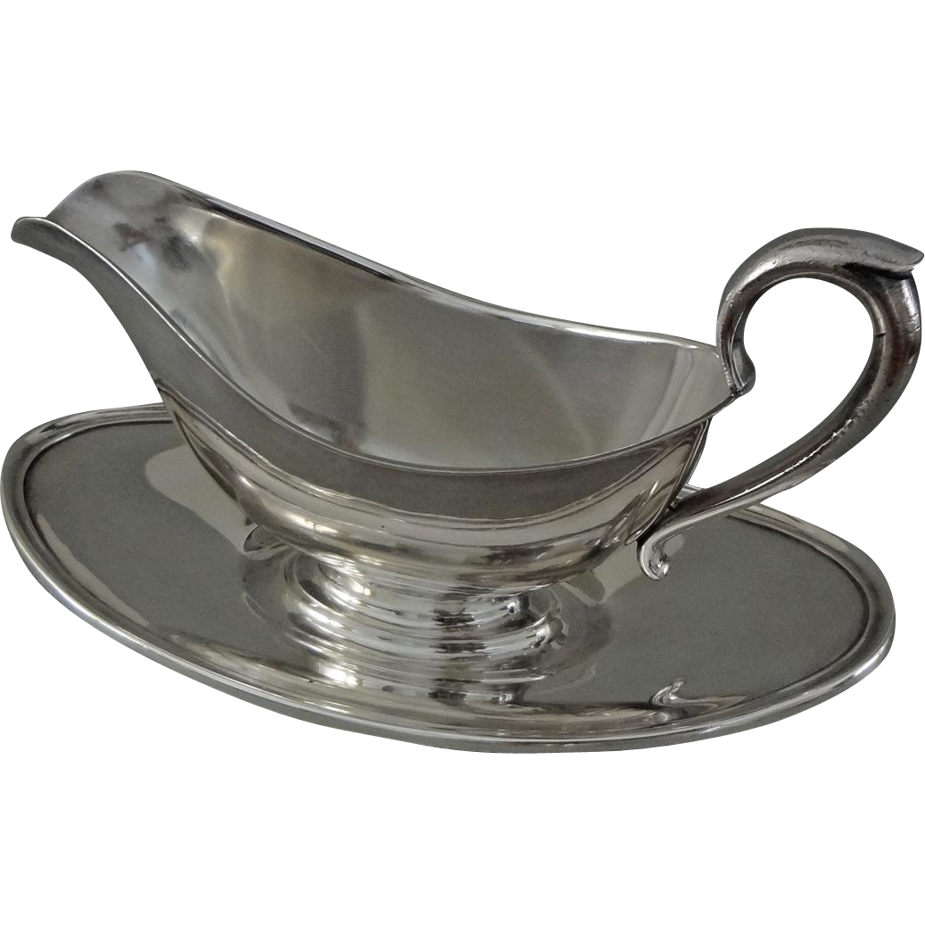 Gorham Sauce Boat Silver Plate with Underplate