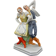 Herend Porcelain Figurine Dancing Couple Model 5513 Large - 20th Century, Hungary