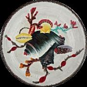Antique Wedgwood Majolica Sea Shell Plate M 3054 - c. 1882, England
