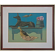 Modern Still Life Color Silkscreen The Guards signed Allen Saalburg - 20th Century, USA