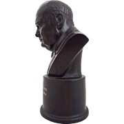 Winston Churchill Wedgwood Black Basalt Bust - 1964, England