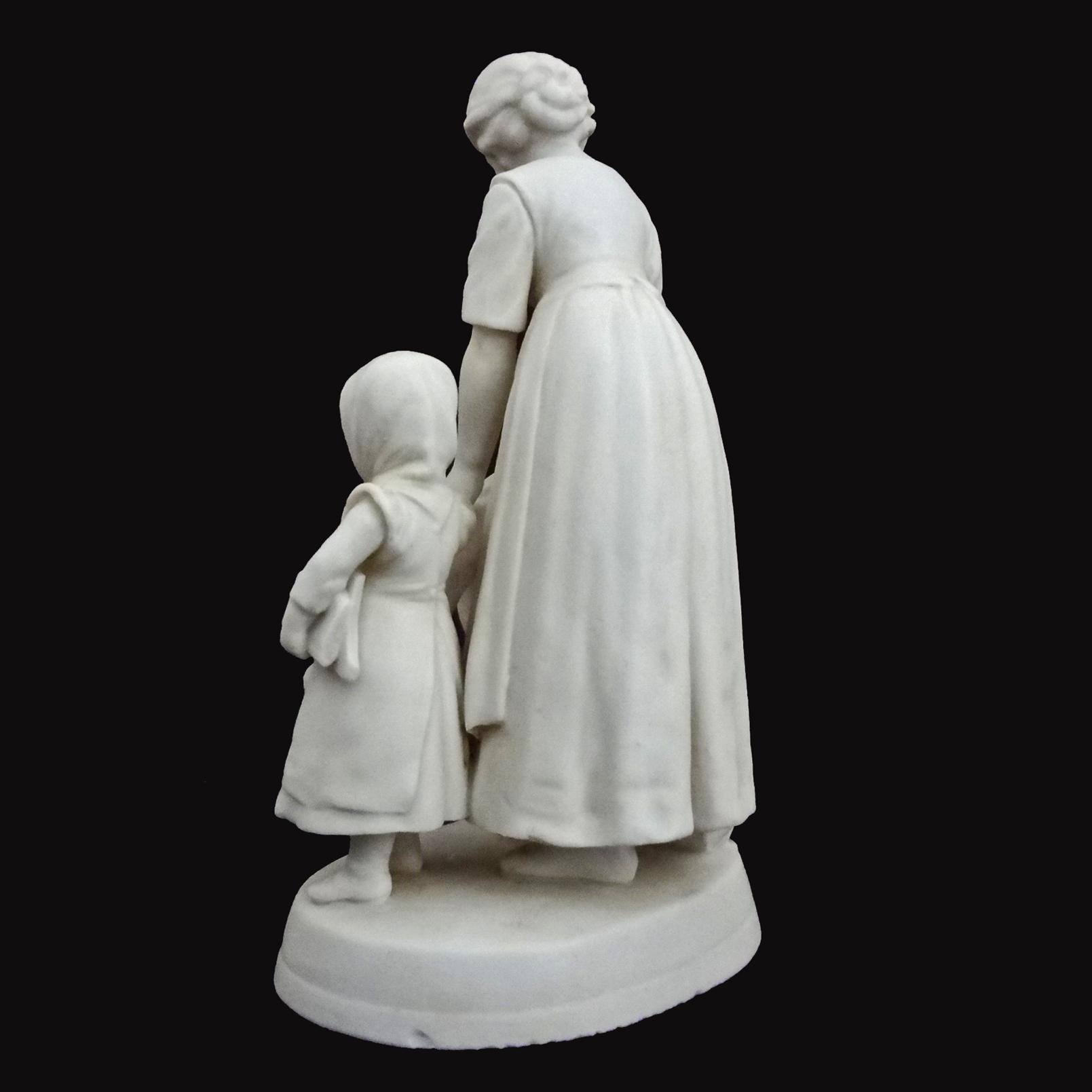 Antique W Goebel Parian Mother And Children Group