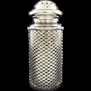Antique Sterling Silver Gentleman Dresser Jar Powder Dispenser Meriden Britannia Co. - 1895-1898, Connecticut