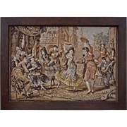 Tapestry Spanish Dancers Framed Picture Textile