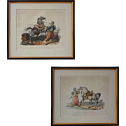 Pair Mameluk and Horse Aquatint Etchings after Carle Vernet - c. 19th Century, France