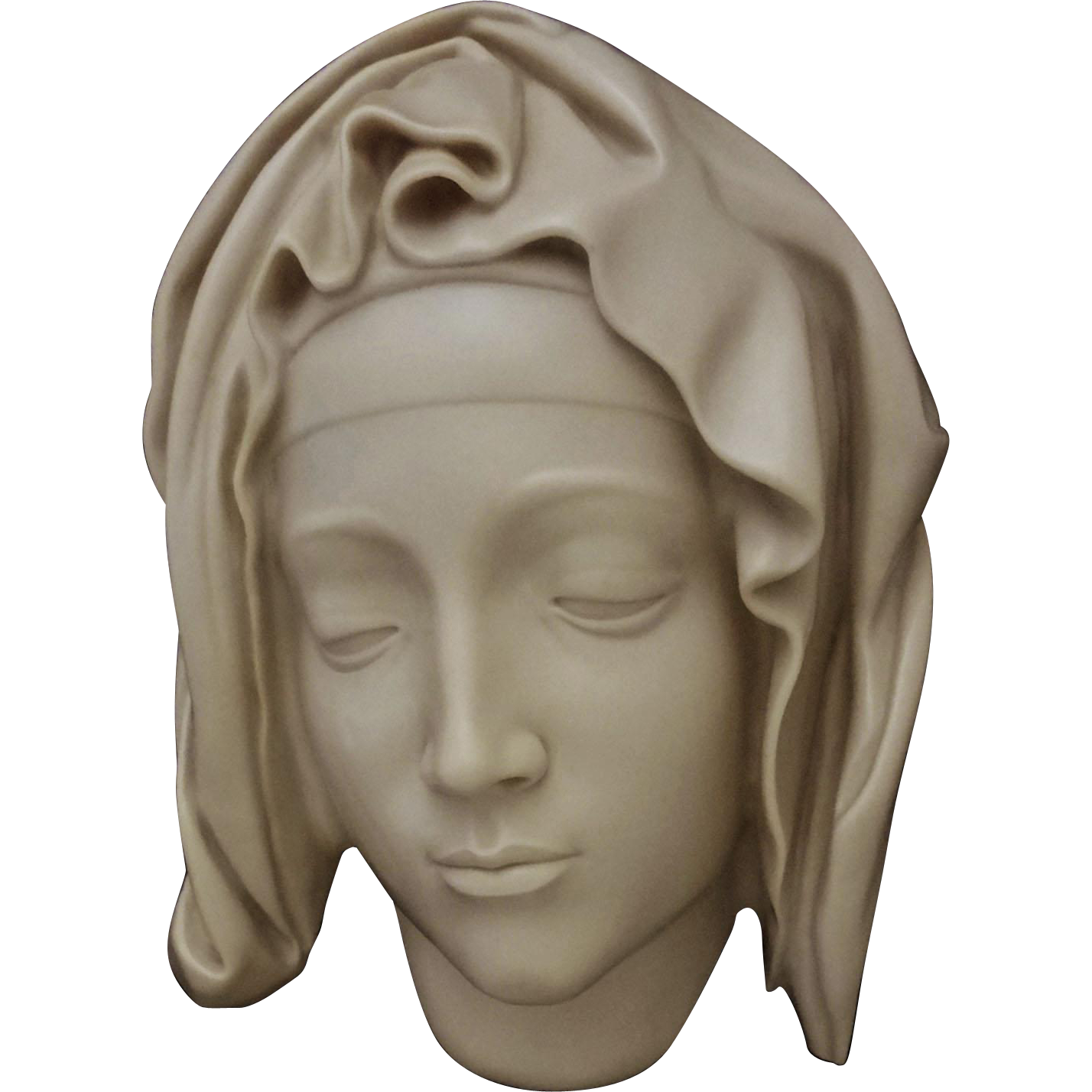 Head of the Virgin after detail from the Pieta by Michelangelo - 20th Century, USA