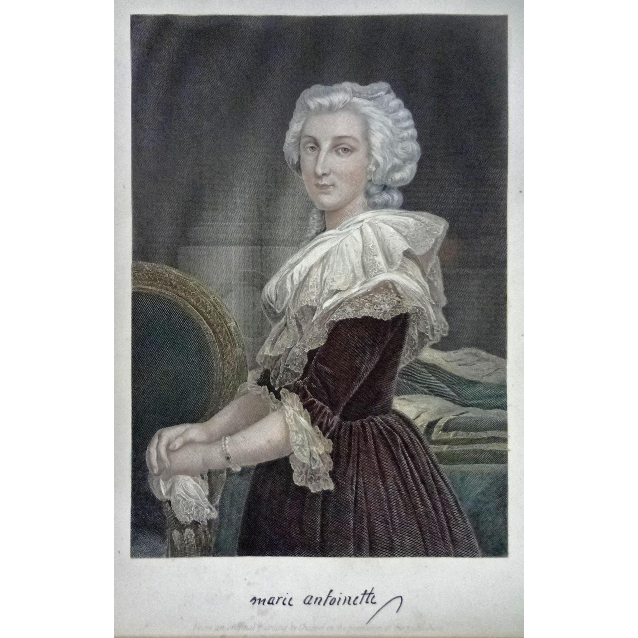 Marie Antoinette Engraving after Alonzo Chappel - 19th Century, USA