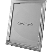 Christofle 5x7 Filets Pattern Picture Frame Silver Plate Easel Back - 20th Century, France