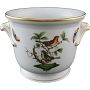 Herend Rothschild Cache Pot / Planter Handled Birds Butterflies 7214 / RO 187 - 20th Century, Hungary