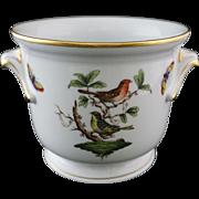 Herend Rothschild Cache Pot / Planter Handled Birds Butterflies 7214 / RO 187 - 20th Century, Hungary