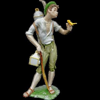 Bird Seller /  Vogelhändler Porcelain Figurine AK Kaiser Number 387 - 20th Century, W Germany