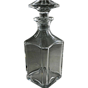 Baccarat Square Whisky Bevelled Crystal Decanter Signed Modern Classic - 20th Century, France