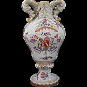 Samson et Cie Paris Armorial Vase / Bolted Urn Signed Porcelain - c. 19th Century, France
