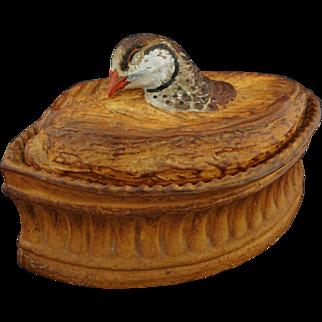 French Pillivuyt Game Terrine / Tureen Size 4 Glazed Porcelain - France