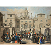 Entrance to Horse Guards from Whitehall Lithograph by W. Robert and Lowes Dickinson - 19th Century, England