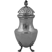 American Sterling Silver Large Sugar Caster Signed Theodore B. Starr - late 19th Century, New York
