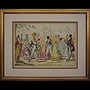 Antique Satirical Fashion Engraving Monstrosities of 1819 and 1820 George Cruikshank / Thomas McLean - 19th Century, England