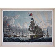 Lord Nelson / The Battle of the Nile Aquatints ( 3 ) by Robert Dodd - 1799, England