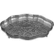 Gallery Serving Tray Serpentine Silver Plated