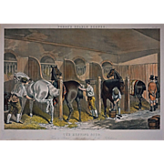 The Hunting Stud from Fores's Stable Scenes Color Lithograph after J. F. HERRING Senr. - 19th Century, England