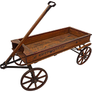 Child's American Wood Wagon Sherwood Spring Coaster Cart - 1920's, USA