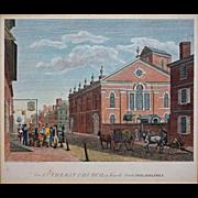Birch's Views of Philadelphia Engraving New Lutheran Church Architectural Americana