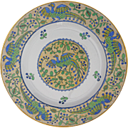 "Bernadaud Limoges Large 13 1/2"" Charger / Platter Birds Porcelain - 20th Century, France"