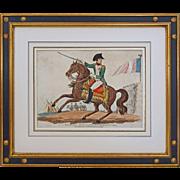 Equestrian Portrait Napoleon Bonaparte, Emperor of France Published by Richard Evans - circa 1815, England