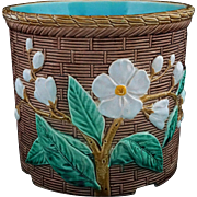 English Majolica Flower Pot / Planter / Jardiniere / Cache Pot