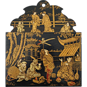 Japanese Papier Mache Lacquer Wall Pocket - c. 1900's, Japan