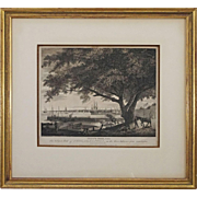 Birch Views of Philadelphia Etching PENNS TREE, with The City Port of PHILADELPHIA - circa 1860, United States