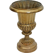 Large Urn Bronze Planter / Jardiniere