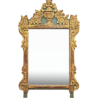 French Mirror Directoire Style Gilt Carved Wood Antique. Buy Furniture   Lighting on Ruby Lane