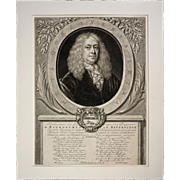 Dutch Portrait Hieronymous Van Beverningk Mezzotint - c. 18th Century, Netherlands