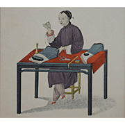 """Woman Making Stockings"" Pu-Qua Canton The Costume of China Engraving, Dadley, Miller - London"