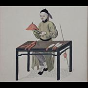 """Cap-Maker"" Pu-Qua Canton The Costume of China Engraving, Dadley, Miller - London"
