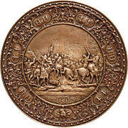 Henri IV Paris / L'Entrée d'Henri IV à Paris Copper Relief Plaque French King Royal Ilsenburg