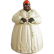 McCoy Cookie Jar Americana Aunt Jemima Large Ceramic Pottery Green Red USA