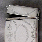 English Sterling Turn of the Century Card Case